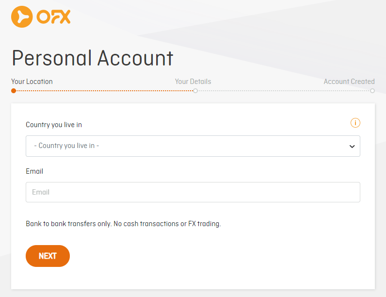 OFX Sign Up